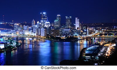 Downtown Pittsburgh - Time lapse of downtown Pittsburgh,...