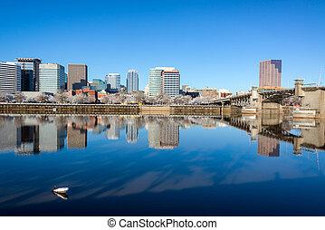 Downtown Portland Reflection - Beautiful reflection of...