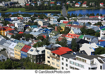 Reykjavik - Downtown Reykjavik, Iceland.