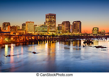 Downtown Richmond, Virginia - Richmond, Virginia, USA...