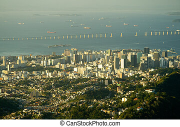 Downtown Rio and the Rio-Niter�i Bridge - You can cross...