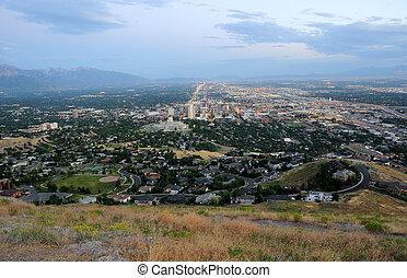 Downtown Salt Lake City at Dusk