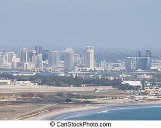 Downtown San Diego - A view of downtown San Diego from ...