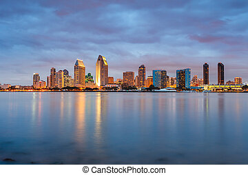 San Diego at night - Downtown San Diego at night
