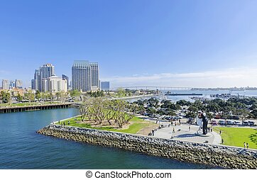 Downtown San Diego, California - A view of the Unconditional...