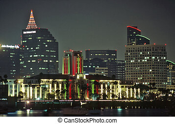 Downtown San Diego at night