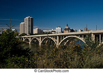 """Saskatoon is often called the """"City of Bridges"""" for its seven river crossings (it is also occasionally referred to as """"The Paris of the Prairies"""", for the same reason)."""