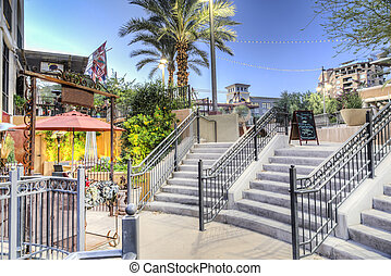 Downtown Scottsdale Arizona in the