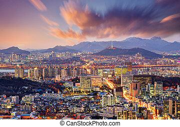Downtown Seoul, South Korea, USA.