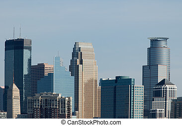 Downtown - Several skyscrapers in downtown Minneapolis ...