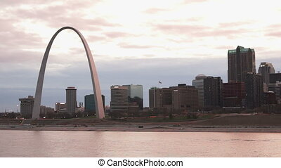 Downtown St Louis Missouri view from Across the Mississippi...