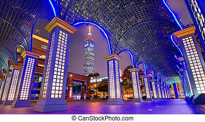 Downtown Taipei, Taiwan Cityscape - Taipei, Taiwan downtown...