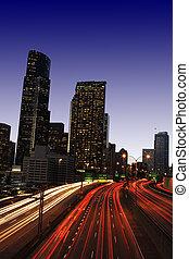 downtown, trafik