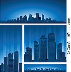 Downtown urban design - urban design cartoon city