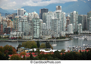 Downtown Vancouver - View of downtown Vancouver at False...