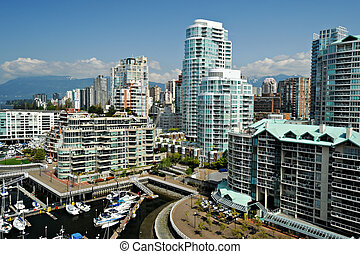 Downtown Vancouver Waterfront, British Columbia, Canada -...