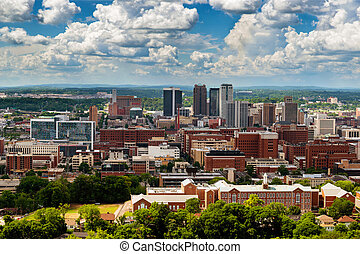 downtown, vulcan, park, birmingham, alabama