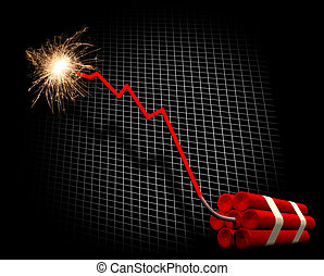 Downward trend leading to explosion - Downward trend leading...