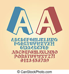 Downwards Isometric Alphabet and Digit Vector