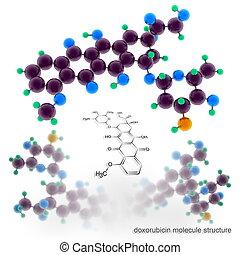 doxorubicin, molecola, struttura