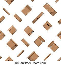 dozen, karton, pattern., set, seamless