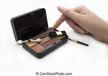dozen, makeup, geopend