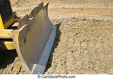 Dozer Blade - The front end of a bull dozer at a ...