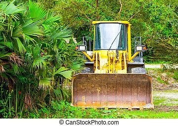 Dozer In Amazonia - Heavy Bulldozer Used For Deforestation...