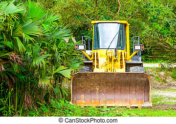 Dozer In Amazonia - Heavy Bulldozer Used For Deforestation...