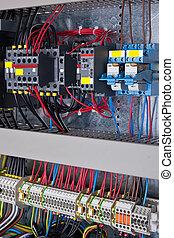 dozor, circuit-breakers, energie, statický, čerstvý, počítadlo, deska