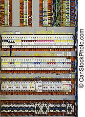 dozor, energie, -, počítadlo, pojistka, statický, circuit-breakers, deska