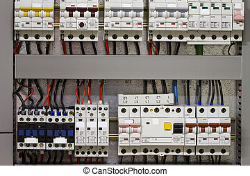 dozor, f, energie, -, počítadlo, statický, circuit-breakers, deska