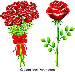 dozzina, di, rose