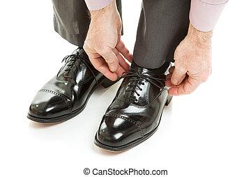 drága, mens, cipők