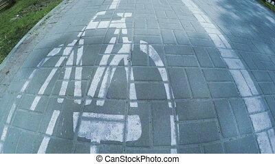 dróżka, rower