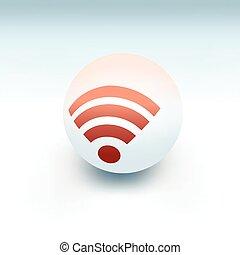 drótnélküli távíró, jelkép, white, labda