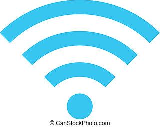 drótnélküli távíró, vektor, hálózat, ikon