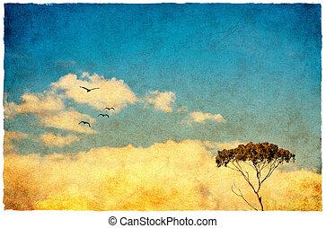 dröm, träd