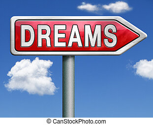 drömmar, väg, underteckna