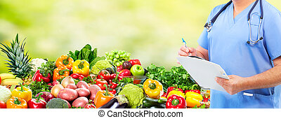 držet dietu, a, zdraví, care.