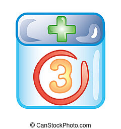 Dr. appointment icon - Stylized icon of date circled for a...