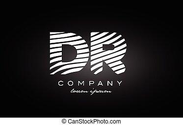 Rd R D White Letter Logo Design With Black Background Rd R D White
