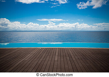DR infinity pool with paradise view