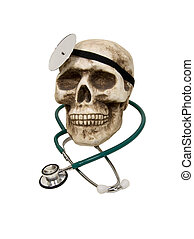 Dr Skull - Medical stethoscope used to listen to heart beats...