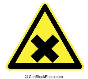 drażniący, żółty, ostrzeżenie triangel