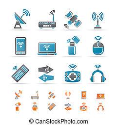 draadloos, communicatie, technologie