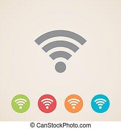 draadloos, netwerk, pictogram