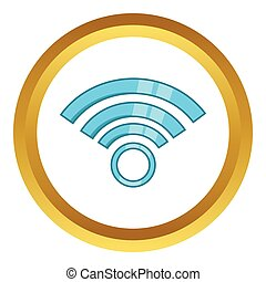 draadloos, symbool, vector, netwerk, pictogram