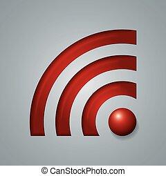 draadloos, symbool, voorwerp, netwerk