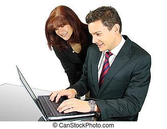 draagbare computer, handel team